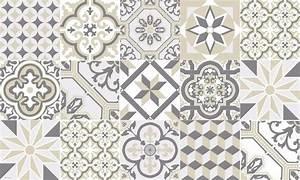 Tapis Pvc Carreaux De Ciment : tapis vinyle carreaux de ciment ginette beige ~ Teatrodelosmanantiales.com Idées de Décoration