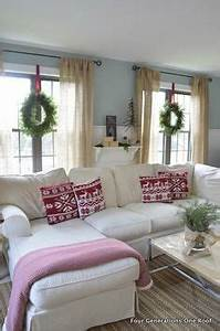 Love the idea of hanging wreaths with ribbon inside on the