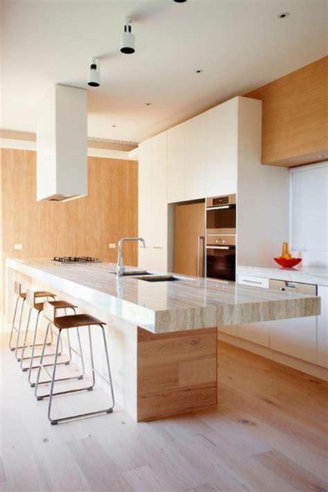 comptoir separation cuisine salon le plan de travail en marbre archzine fr