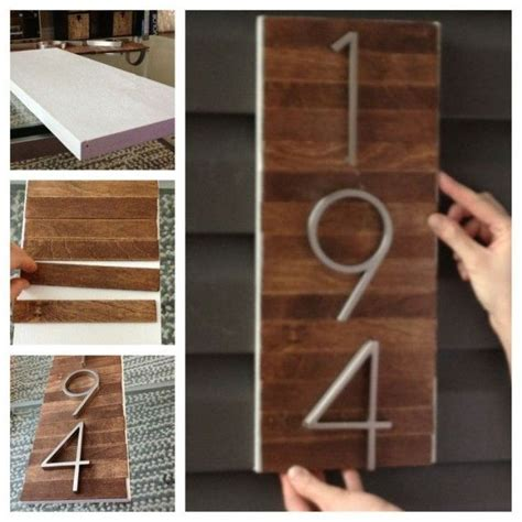diy street number sign  wood  numbers founterior