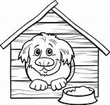 Doghouse sketch template