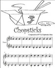 Chopsticks Piano Sheet Music with Letters