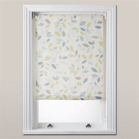Kitchen Blinds At Lewis by Lewis Partners Scattered Leaves Blackout Roller