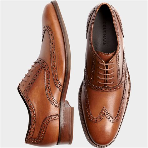 mens light brown oxfords buy a cole haan williams tan wingtip shoes and other dress