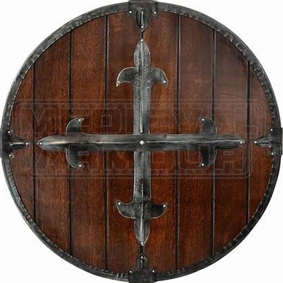 Shield Medieval Cross Round Fleur Shields Armour
