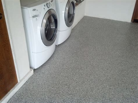 flooring for laundry room garage floor with westcoat liquid granite flake floor traditional laundry room san luis
