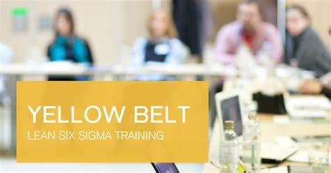 lean  sigma yellow belt training   effective