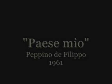 """paese Mio"" Peppino De Filippo Youtube"