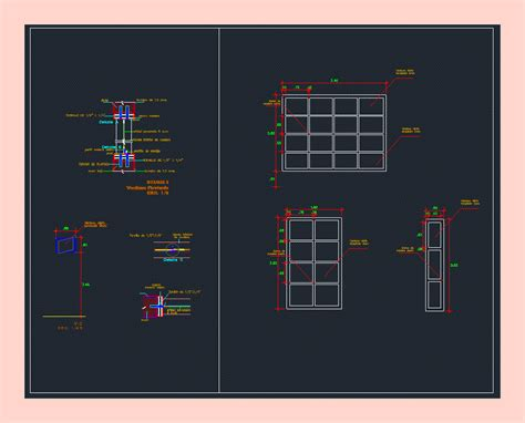 Wood Windows DWG Detail for AutoCAD • Designs CAD