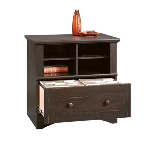Sauder Lateral File Cabinet Assembly by Sauder Harbor View Antiqued Paint Lateral File Cabinet 403681