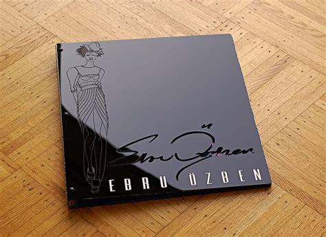 custom acrylic fashion design portfolio book logo