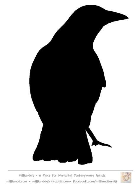 Crow Silhouette Bird Stencil Templates