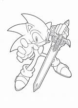 Coloring Sword Sonic Hedgehog Colouring Printable Clipart Drawing Coloriage Sheets Shadow Pokemon Running Minecraft Blade Unleashed Colorier Transparent Hedgehogs Sheet sketch template