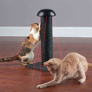 Cat Scratching Post With Built-In Laser Toy - The Green Head
