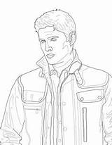Supernatural Coloring Pages Dean Winchester Printable Castiel Fan Adult Malbuch Colouring Victorious Sam Colour Journal Sheets Sheet Instant Similar Items sketch template