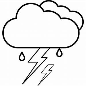 Lightening, IOS 7 interface symbol for weather Icons ...