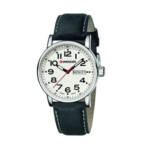 swiss army day date leather wenger attitude day and date mens swiss army black