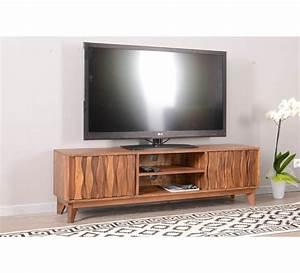Meuble Tv Bois : meuble tv en bois massif vintage madras 7204 ~ Teatrodelosmanantiales.com Idées de Décoration