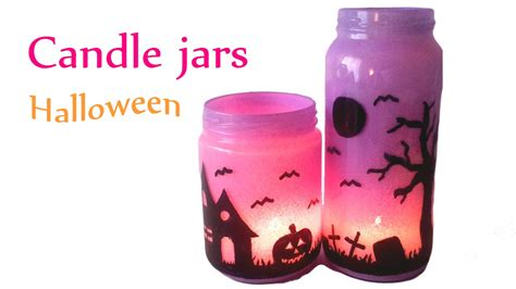 diy crafts halloween decorations candle jars lanterns