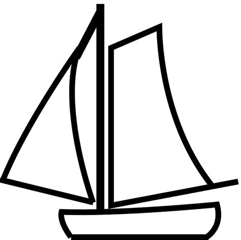 Sailboat Outline Vector Free by Free Vector Graphic Sailboat Outline White Sport