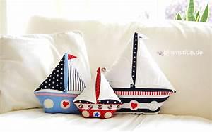Kissen Nähen Ideen : segelboot n hen schiff kissen n hen anleitung schnittmuster ~ Markanthonyermac.com Haus und Dekorationen
