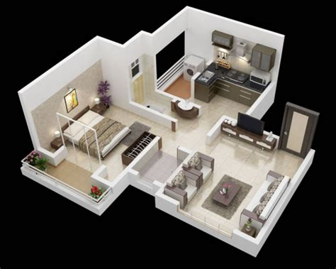 25 One Bedroom Houseapartment Plans by 25 One Bedroom House Apartment Plans Architecture