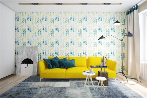 simple inspiration    style   yellow sofa