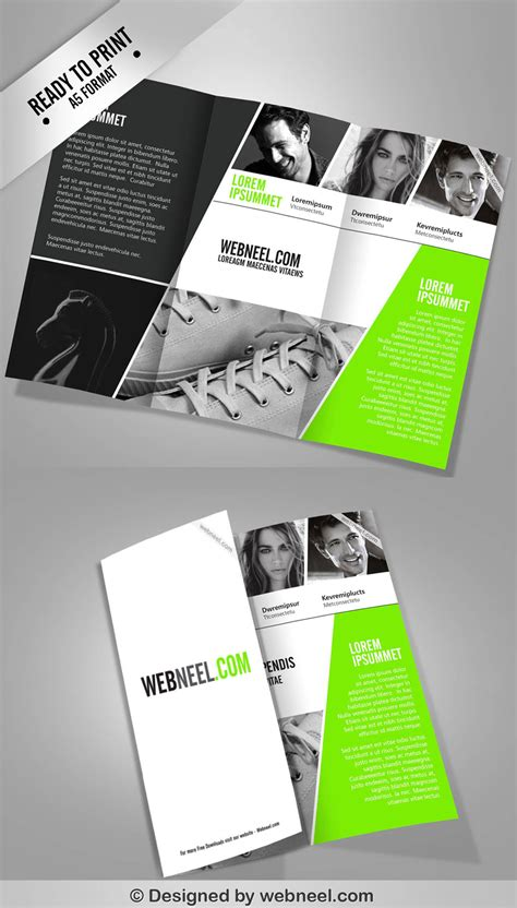 corporate ttrifold brochure template freedownload