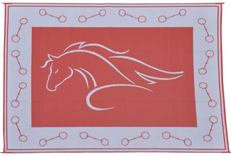 9 x 12 horse head red patio mat