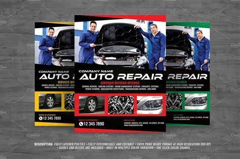 car repair flyer flyer templates creative market