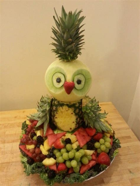 fruity owl fruit display fun shaped food pinterest