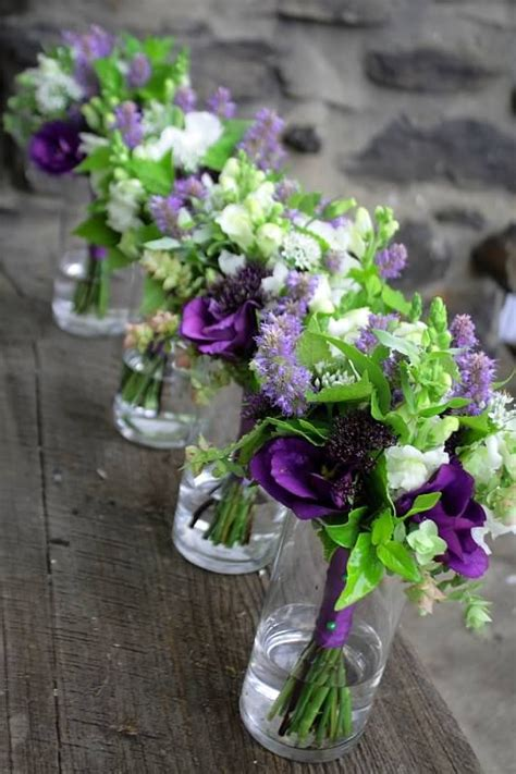 green with purple flower wedding flowers green and purple wedding pinterest