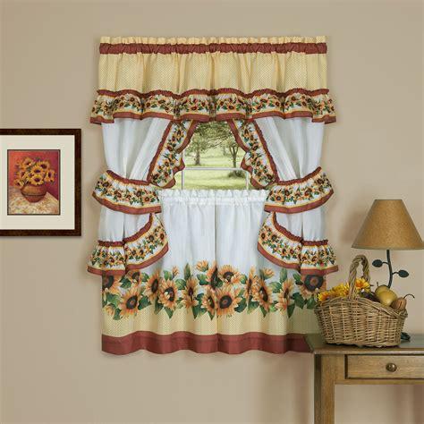 achim black eyed susan cottage window curtain set shop
