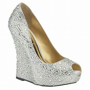 silver wedge wedding shoes With wedding dress shoes wedges