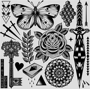 butterfly knife tattoo design | nautical/old school ...