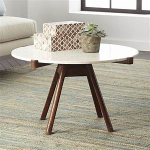 Reeve mid century grey and brown coffee table for White coffee table with brown top