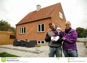 Happy Family In Front Of House Royalty Free Stock Image ...