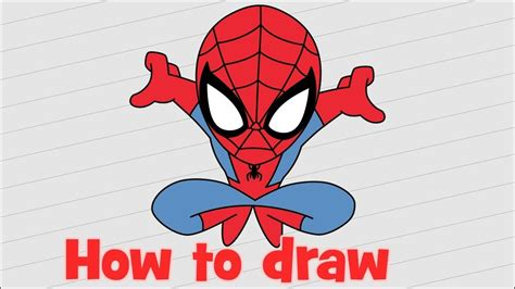 draw spiderman homecoming  beginners youtube