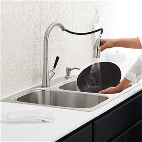 kohler stainless steel sink  faucet package