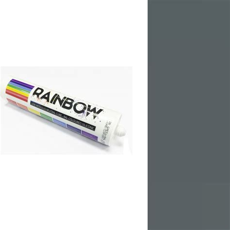 light stores in iron grey ral 7011 rainbow silicone sealant 300ml 7011