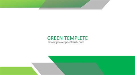 powerpoint template green template powerpoint hub