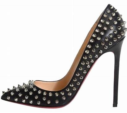 Louboutin Christian Heels Spikes Pumps Silver Pigalle