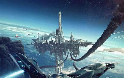 Space Fantasy Wallpapers Spaceship Background 2880 1800