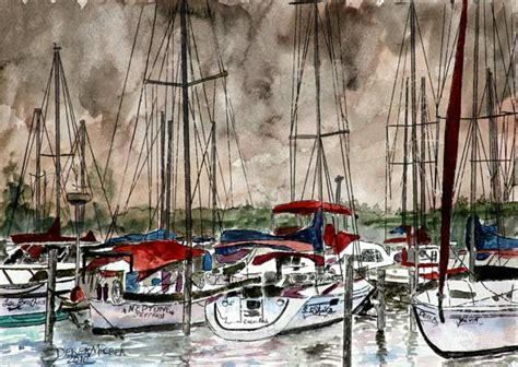 Aluminium Boat Painting Techniques by Painting Of Sail Boats Derek Mccrea