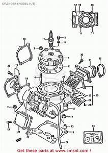 Suzuki Rm125 1987  H  Cylinder  Model H  J