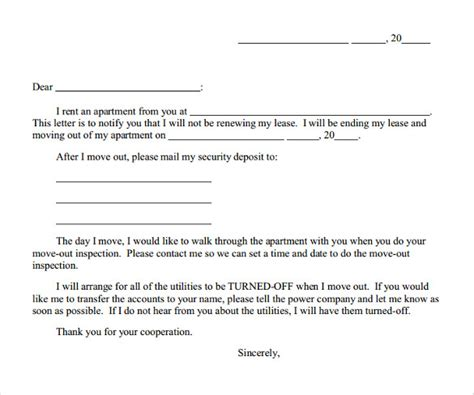 early lease termination letter 9 early lease termination letters to sle