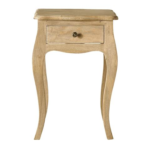 table de chevet avec tiroir en manguier l 42 cm colette maisons du monde