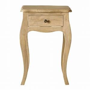 Table De Chevet Bois Brut : table de chevet avec tiroir en manguier l 42 cm colette maisons du monde ~ Melissatoandfro.com Idées de Décoration