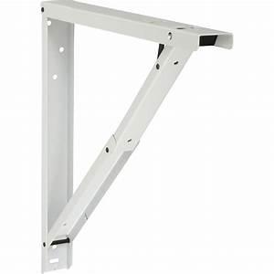 Equerre Murale Pour Charge Lourde : equerre abat plan acier epoxy blanc x cm ~ Premium-room.com Idées de Décoration