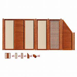 Bauhaus Wandverkleidung Holz : werth holz zaunset silverstone 1 9 tlg holz stein ~ Michelbontemps.com Haus und Dekorationen